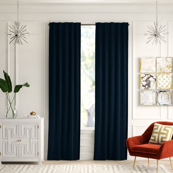 Picture Window Drapes | Wayfair Regarding Double Pinch Pleat Top Curtain Panel Pairs (Image 18 of 25)
