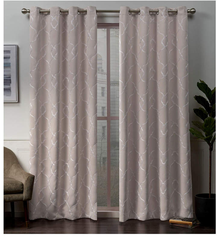 Pink Blackout Curtains – Shopstyle With Regard To Woven Blackout Curtain Panel Pairs With Grommet Top (Image 24 of 25)