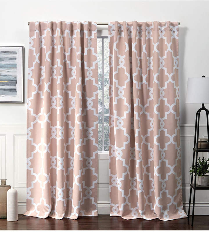 Pink Blackout Curtains – Shopstyle With Sateen Twill Weave Insulated Blackout Window Curtain Panel Pairs (View 25 of 25)