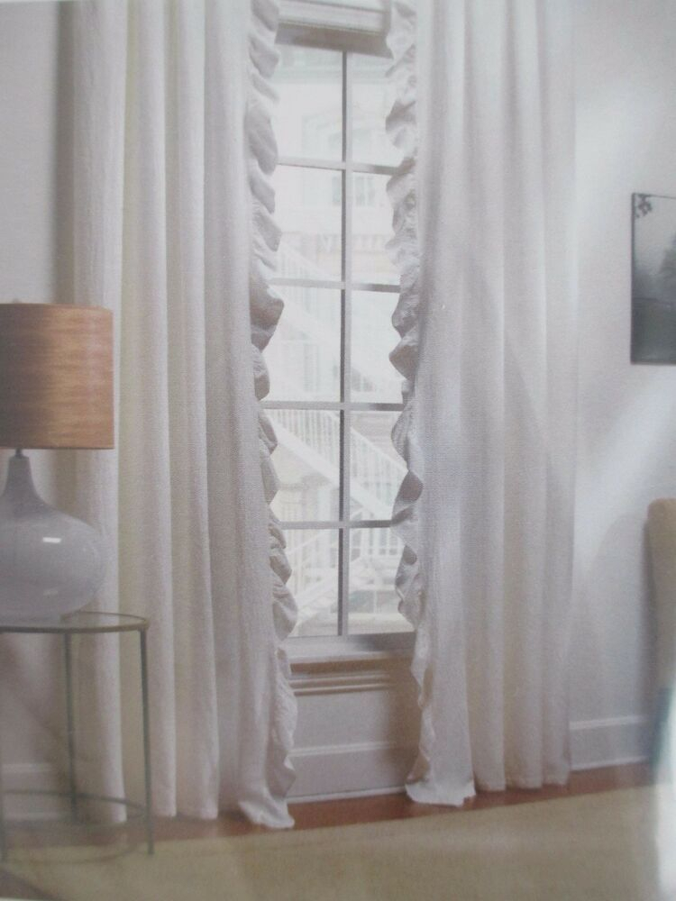 Piubelle Piu Belle Matelasse Shabby Gray Ruffle Panels Intended For The Gray Barn Gila Curtain Panel Pairs (Image 18 of 25)