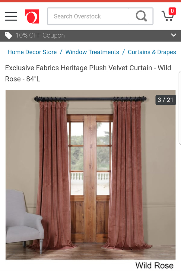Plush Velvet Curtains, Wild Rose 50X96 For Sale In Round Rock, Tx – Offerup Intended For Heritage Plush Velvet Curtains (Image 17 of 25)
