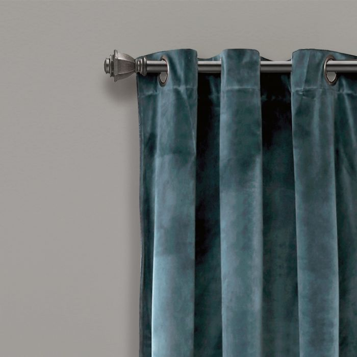 Prima Velvet Solid Room Darkening Window Curtain Panels Slate Blue 38X108  Set – Half Moon 16T004336 In Velvet Solid Room Darkening Window Curtain Panel Sets (Image 14 of 25)