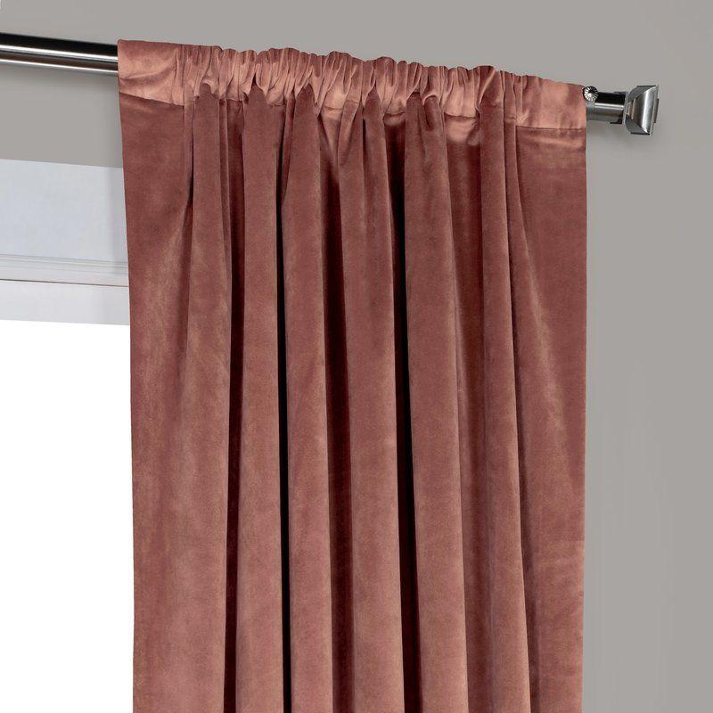 Red Barrel Studio Riverton Solid Heritage Plush Velvet Rod For Heritage Plush Velvet Single Curtain Panels (Image 14 of 25)