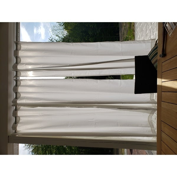 Reviews (887) Ati Home Indoor/outdoor Solid Cabana Grommet Intended For Indoor/outdoor Solid Cabana Grommet Top Curtain Panel Pairs (View 19 of 25)