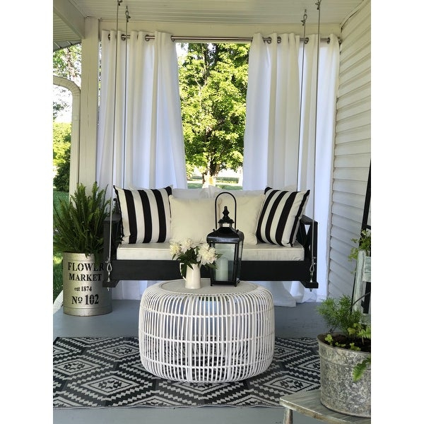 Reviews (887) Ati Home Indoor/outdoor Solid Cabana Grommet With Indoor/outdoor Solid Cabana Grommet Top Curtain Panel Pairs (View 11 of 25)