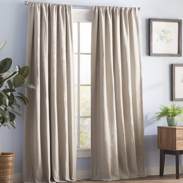 Reyna Solid Room Darkening Thermal Rod Pocket Single Curtain Panel Regarding Hayden Grommet Blackout Single Curtain Panels (Image 15 of 25)