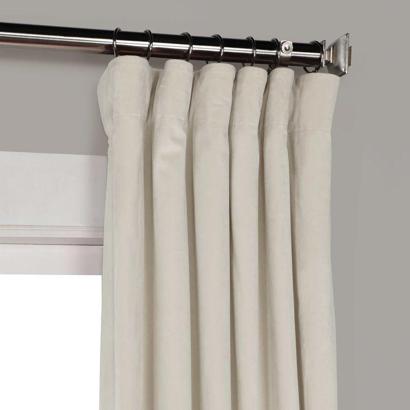 Riverton Solid Heritage Plush Velvet Rod Pocket Single For Heritage Plush Velvet Single Curtain Panels (Image 15 of 25)