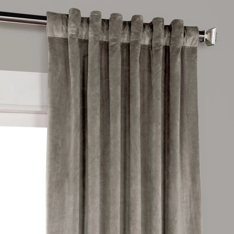Riverton Solid Heritage Plush Velvet Rod Pocket Single Intended For Heritage Plush Velvet Curtains (Image 21 of 25)