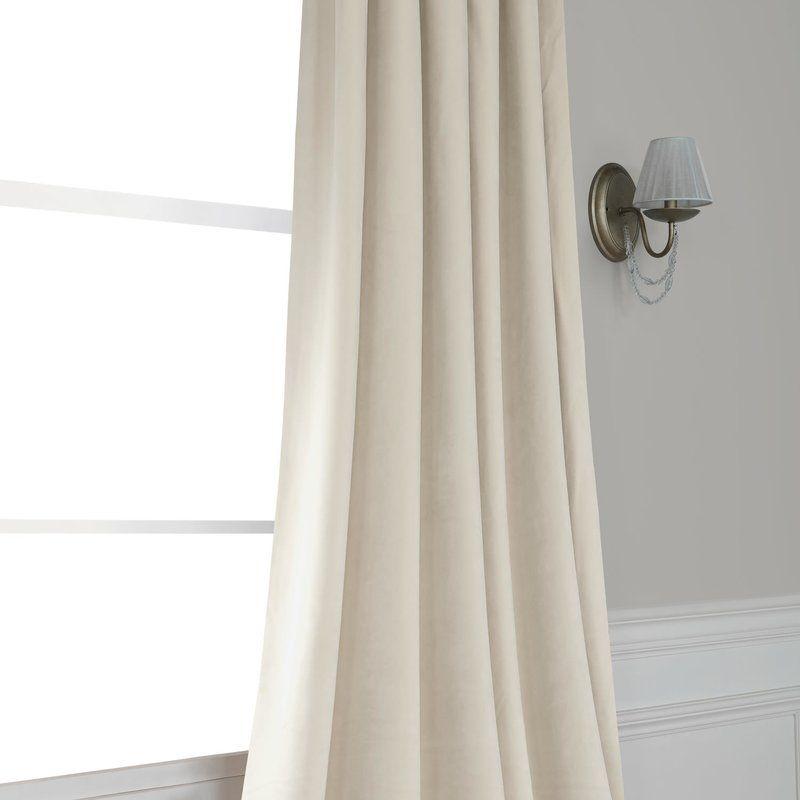 Riverton Solid Heritage Plush Velvet Rod Pocket Single Intended For Heritage Plush Velvet Single Curtain Panels (Image 18 of 25)