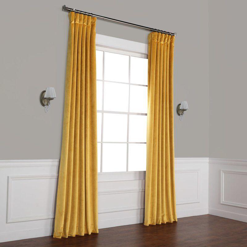 Riverton Solid Heritage Plush Velvet Rod Pocket Single Intended For Heritage Plush Velvet Single Curtain Panels (Image 19 of 25)