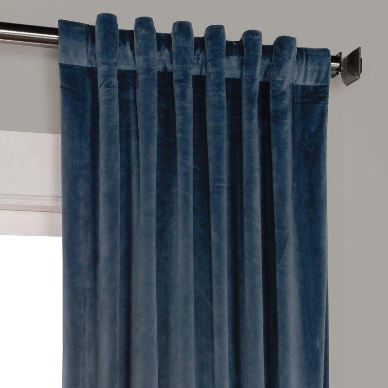Riverton Solid Heritage Plush Velvet Rod Pocket Single Intended For Heritage Plush Velvet Single Curtain Panels (Image 17 of 25)