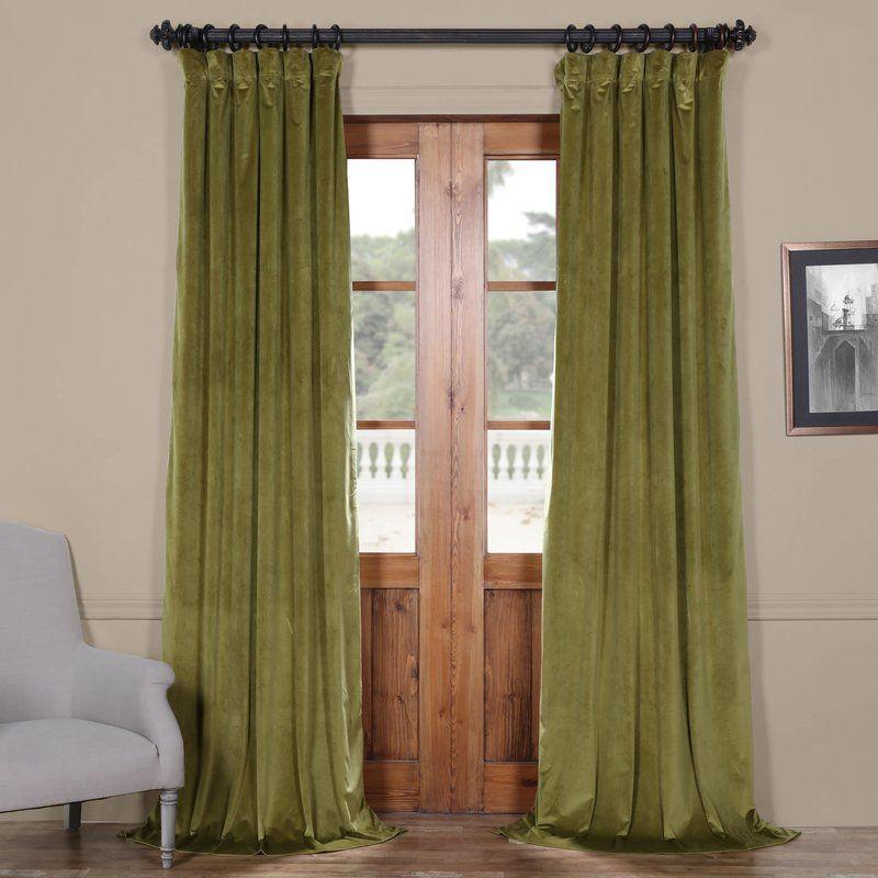Riverton Solid Heritage Plush Velvet Rod Pocket Single Pertaining To Heritage Plush Velvet Single Curtain Panels (Image 20 of 25)