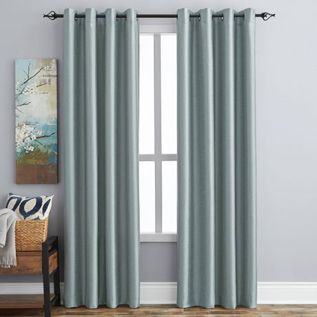Room Darkening Curtains | Walmart Canada Within Dolores Room Darkening Floral Curtain Panel Pairs (Image 19 of 25)
