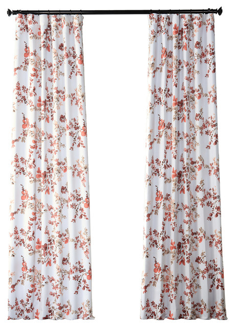 Rose Elm Blackout Curtain, Pair, 50W X 84L Throughout Abstract Blackout Curtain Panel Pairs (Image 20 of 25)