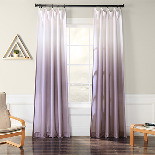Rose Street Ombre Faux Linen Semi Sheer Ombre Plum 108 X 50 Inch Curtain Single Panel With Faux Linen Extra Wide Blackout Curtains (View 24 of 25)