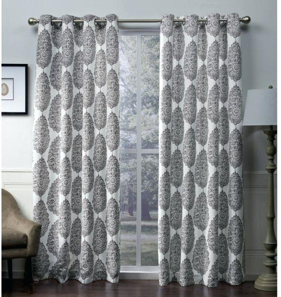 Sateen Curtains Exclusive Home Silver Woven Blackout Hidden Throughout Sateen Twill Weave Insulated Blackout Window Curtain Panel Pairs (View 22 of 25)