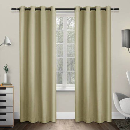 Sateen Twill Weave Insulated Blackout Grommet Top Window For Sateen Twill Weave Insulated Blackout Window Curtain Panel Pairs (View 20 of 25)