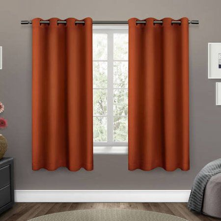 Sateen Twill Weave Insulated Blackout Grommet Top Window With Sateen Twill Weave Insulated Blackout Window Curtain Panel Pairs (View 8 of 25)