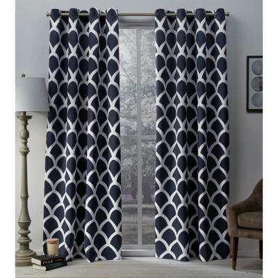 Sateen Vanilla Twill Weave Blackout Grommet Top Window With Regard To Sateen Twill Weave Insulated Blackout Window Curtain Panel Pairs (View 10 of 25)