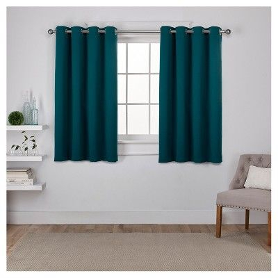 Set Of 2 Sateen Twill Weave Insulated Blackout Grommet Top Within Sateen Twill Weave Insulated Blackout Window Curtain Panel Pairs (View 2 of 25)
