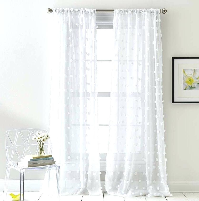 Sheer Panels Home Jacquard Sheer Double Pinch Pleat Top Intended For Double Pinch Pleat Top Curtain Panel Pairs (Image 23 of 25)