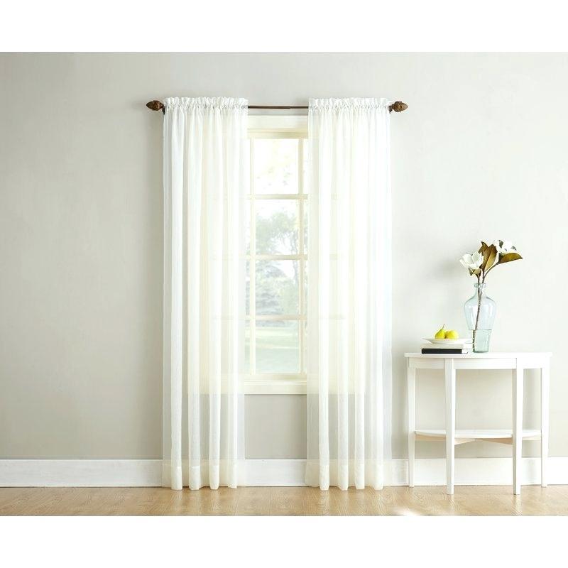 Sheer Voile Curtain Panels – Shockanalyticsllc For Emily Sheer Voile Single Curtain Panels (Image 20 of 25)
