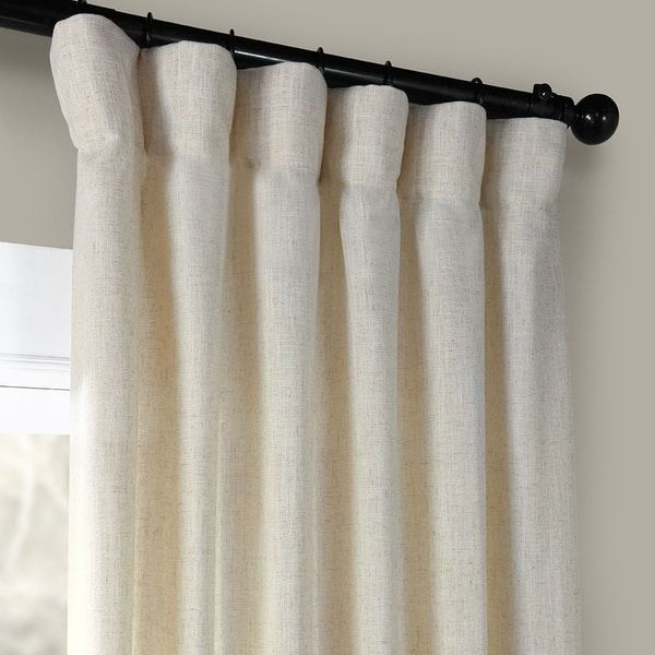 Shop Heavy Faux Linen Single Curtain Panel – On Sale – Free In Heavy Faux Linen Single Curtain Panels (Image 19 of 25)