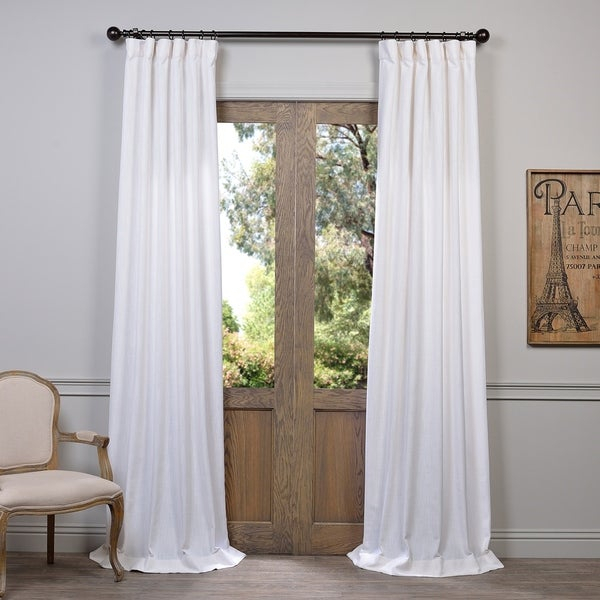 Featured Image of Heavy Faux Linen Single Curtain Panels