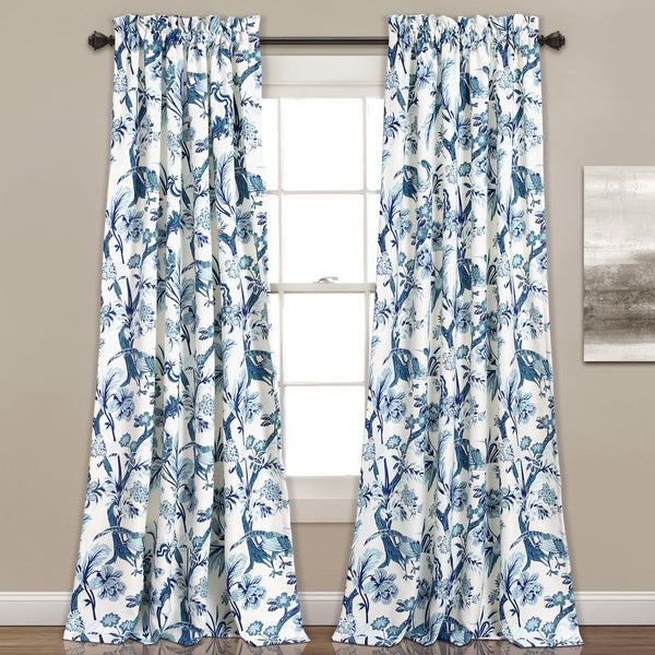 Featured Image of Dolores Room Darkening Floral Curtain Panel Pairs