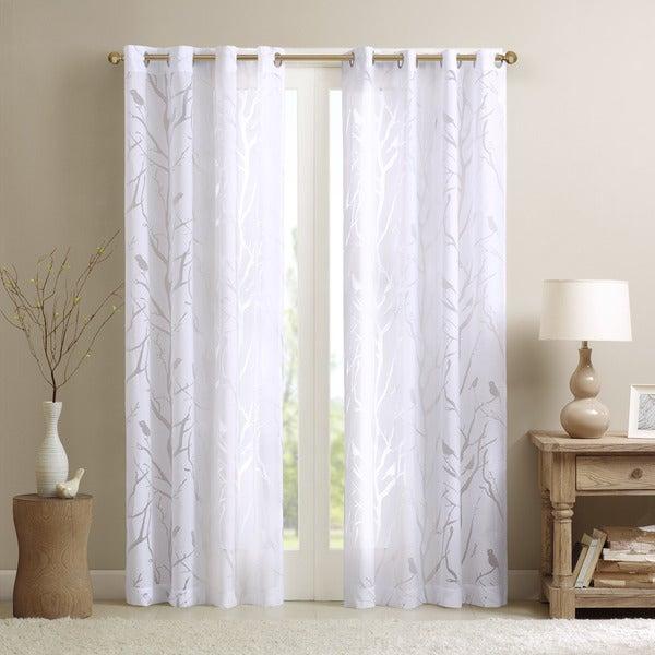 Featured Image of Vina Sheer Bird Single Curtain Panels