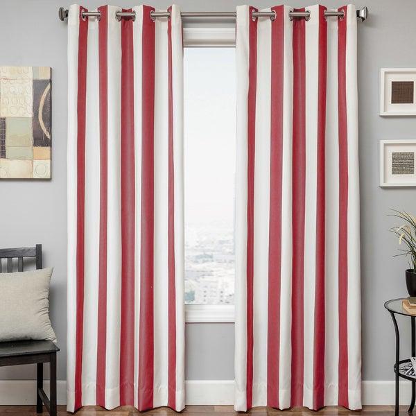 Shop Softline Sunbrella Cabana Stripe Indoor/outdoor Curtain Intended For Valencia Cabana Stripe Indoor/outdoor Curtain Panels (Image 15 of 25)