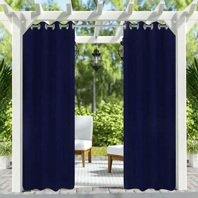 Solid Grommet Indoor/outdoor Curtain Panel Pair 50X96 Inch Dark Blue,4Pack | Ebay Intended For Indoor/outdoor Solid Cabana Grommet Top Curtain Panel Pairs (Photo 15 of 25)