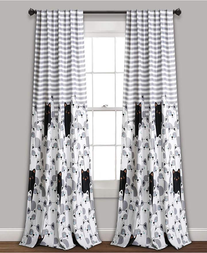 "Stripe Bear Room Darkening Window Curtain Panels Set, 84"" X 52"" Within Julia Striped Room Darkening Window Curtain Panel Pairs (Image 20 of 25)"