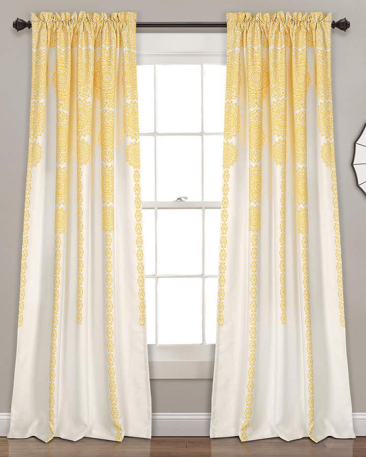 Stripe Medallion Room Darkening Window Curtain Panels Within Julia Striped Room Darkening Window Curtain Panel Pairs (Image 22 of 25)