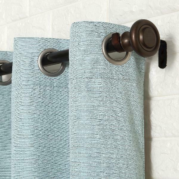 Sun Zero 2 Pack Arlo Textured Thermal Insulated Blackout Grommet Curtain  Panel P Intended For Duran Thermal Insulated Blackout Grommet Curtain Panels (Image 16 of 25)