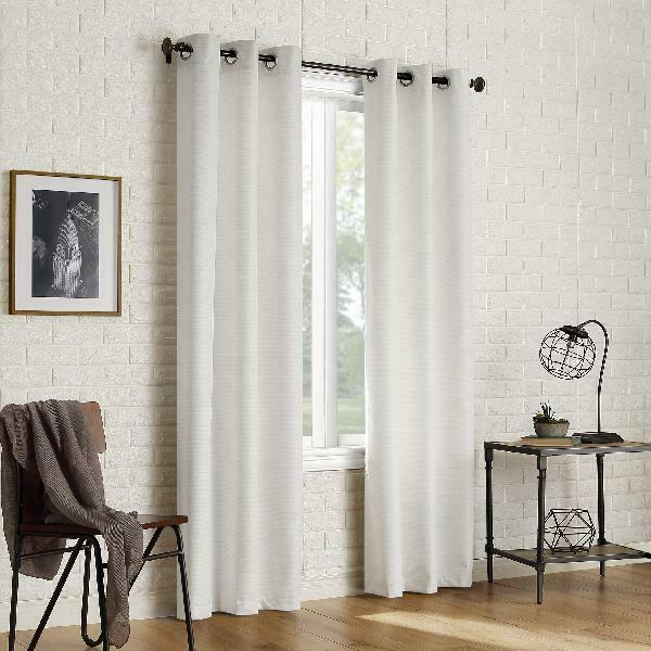 Sun Zero 2 Pack Arlo Textured Thermal Insulated Blackout Grommet Curtain  Panel P Pertaining To Duran Thermal Insulated Blackout Grommet Curtain Panels (Image 18 of 25)
