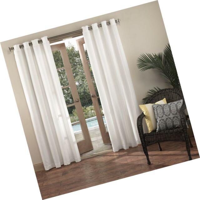 "Sun Zero Beacon Woven Indoor/outdoor Uv Protectant Grommet Curtain Panel  52"" With Regard To Valencia Cabana Stripe Indoor/outdoor Curtain Panels (Image 16 of 25)"