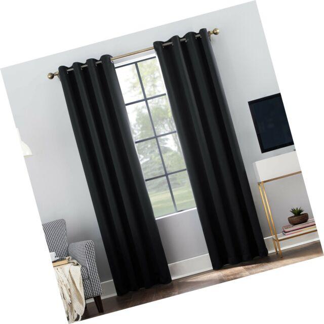 "Sun Zero Oslo Theater Grade Extreme 100% Blackout Grommet Curtain Panel,  52"" Regarding Hayden Grommet Blackout Single Curtain Panels (Image 21 of 25)"