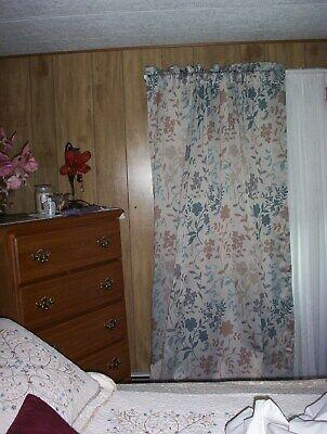 Sun Zero Rod Pocket Curtains 100% Polyster Floral | Ebay Regarding Hayden Rod Pocket Blackout Panels (Image 22 of 25)