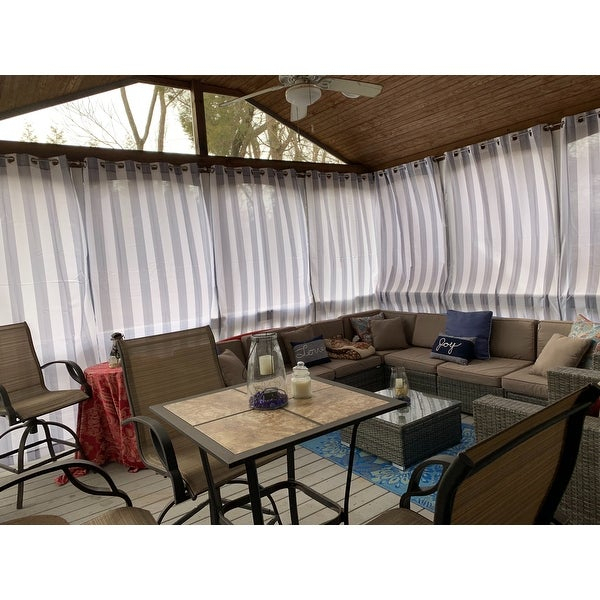 Sun Zero Valencia Uv Protectant Indoor Outdoor Curtain Panel In Valencia Cabana Stripe Indoor/outdoor Curtain Panels (Image 20 of 25)
