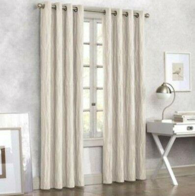 Tangent 84 Inch Grommet Top Lined Window Curtain Panel In Linen  678298234348   Ebay Inside Kochi Linen Blend Window Grommet Top Curtain Panel Pairs (Image 25 of 25)