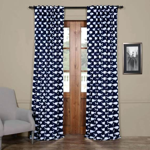 Tea Time China Blue Blackout Curtain – Kinanmlounge Regarding Overseas Faux Silk Blackout Curtain Panel Pairs (View 14 of 25)
