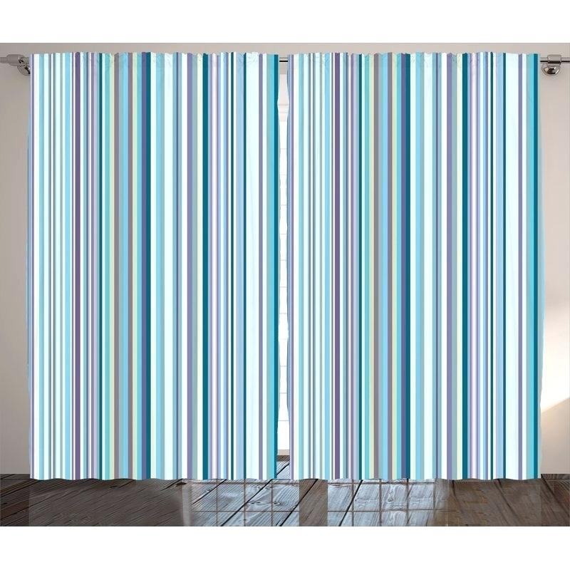Teal Curtain Panels – Zagaasportsfoundation With Abstract Blackout Curtain Panel Pairs (Image 22 of 25)