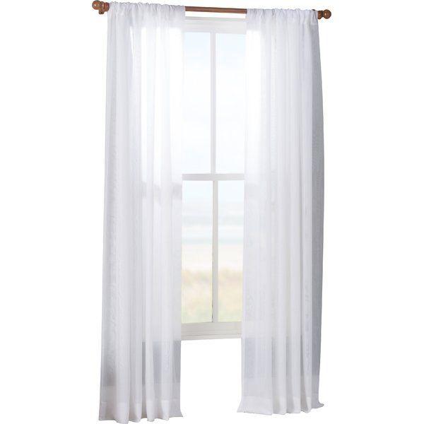 Tiya Double Layered Solid Sheer Single Curtain Panel Inside Double Layer Sheer White Single Curtain Panels (Image 24 of 25)
