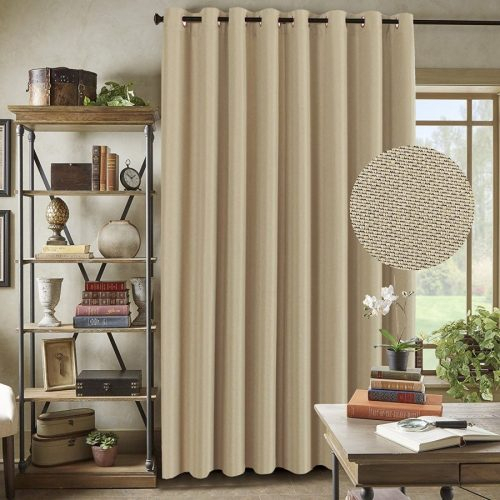 Top 10 Best Curtains For Sliding Glass Doors In 2019 With Regard To Faux Linen Extra Wide Blackout Curtains (View 8 of 25)