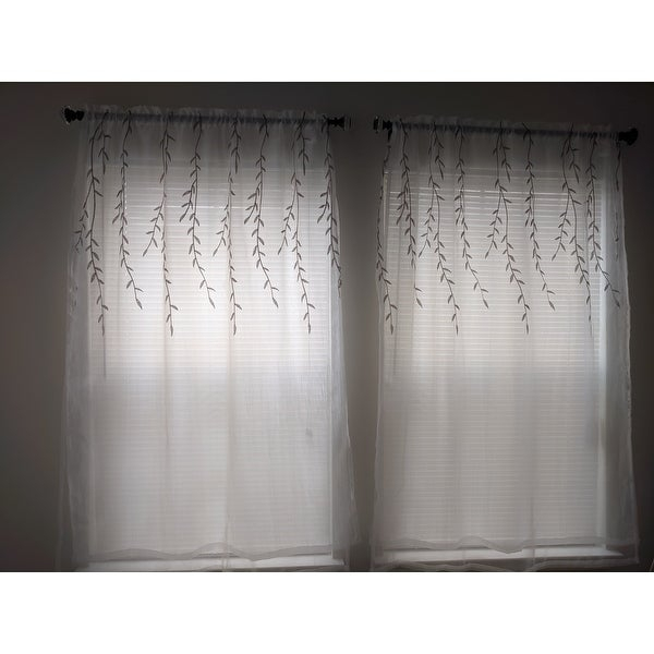 Top Product Reviews For Achim Willow Rod Pocket Window For Willow Rod Pocket Window Curtain Panels (View 11 of 25)
