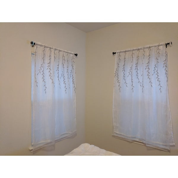 Top Product Reviews For Achim Willow Rod Pocket Window In Willow Rod Pocket Window Curtain Panels (View 15 of 25)