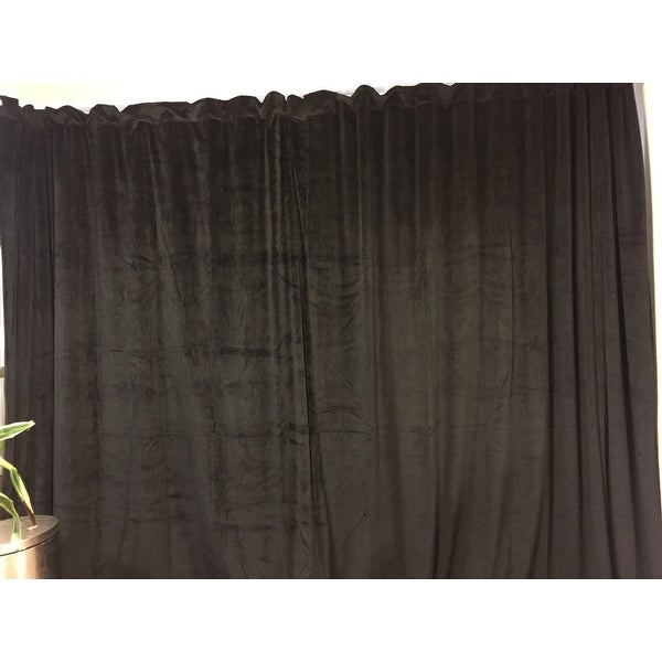 Top Product Reviews For Exclusive Fabrics Warm Black Velvet Throughout Warm Black Velvet Single Blackout Curtain Panels (View 5 of 25)