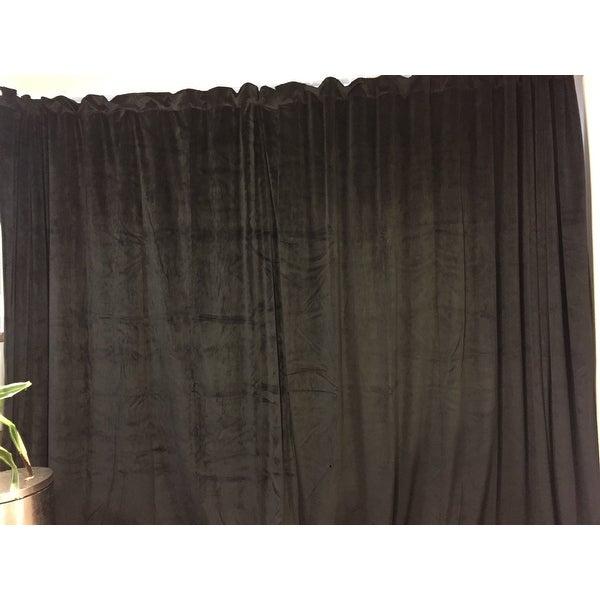 Top Product Reviews For Exclusive Fabrics Warm Black Velvet Throughout Warm Black Velvet Single Blackout Curtain Panels (Image 21 of 25)