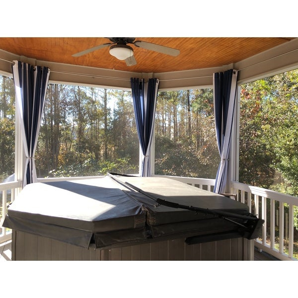 Top Product Reviews For Sun Zero Valencia Cabana Stripe Throughout Valencia Cabana Stripe Indoor/outdoor Curtain Panels (Image 22 of 25)